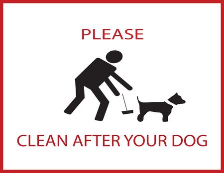 Nettoyer après la notification de votre chien Banque d'images - 84562750