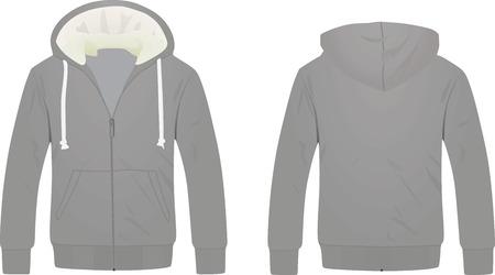 Grey hoodie. vector illustration Vetores