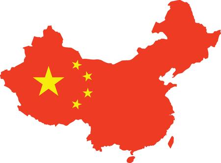 Public republic of China map. vector illustration Иллюстрация