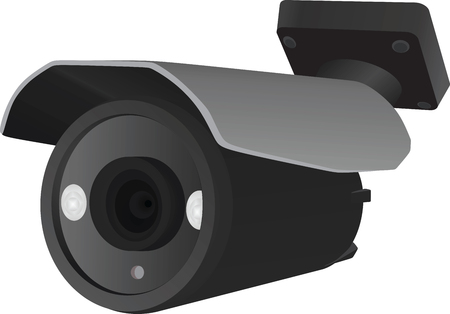 security monitor: Surveillance camera vector Illustration