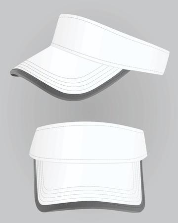 Visor cap. vector illustratie Stock Illustratie