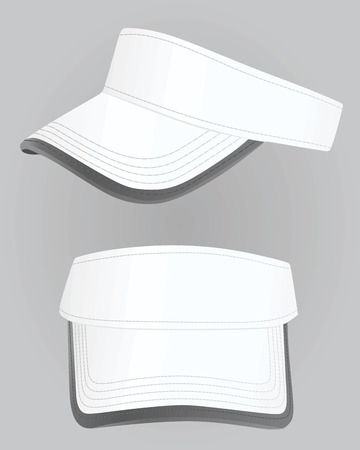 Tapa del visera. ilustración vectorial