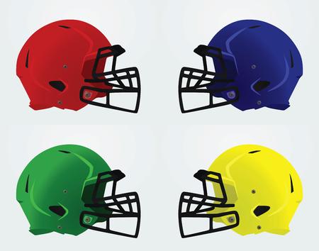 sports equipment: American football helmet. vector illustration Illustration