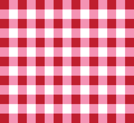 Picnic checkered tablecloth pattern red and white