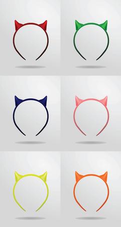 mythical festive: Devils horns headband, vector illustration Illustration