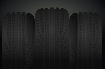 snow tires: Tires set. vector illustration Illustration