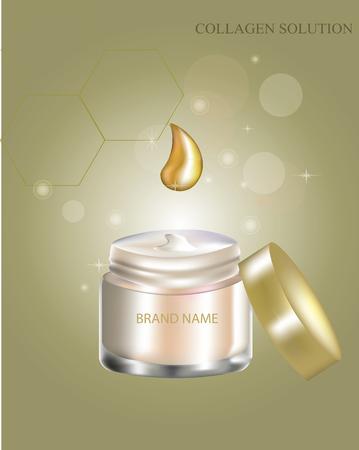 Cosmetic cream, vector