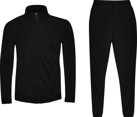 Black tracksuit vector Illustration