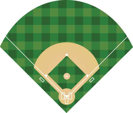 Terrain de baseball.