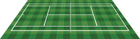Tennis field. vector illustration