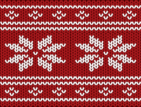 Nordic knitted pattern on wool, vector