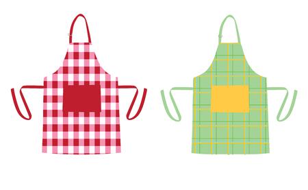 Dwa fartuchy z wzorami kuchennymi Ilustracje wektorowe