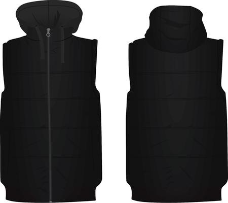 白い背景にキャップイラストの黒いパフ。  イラスト・ベクター素材