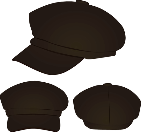 Brown stylish cap. vector illustration Illustration