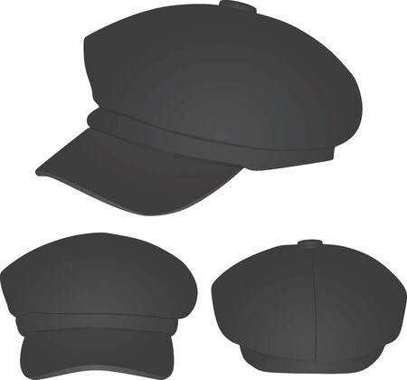 Grey winter cap. vector illustration