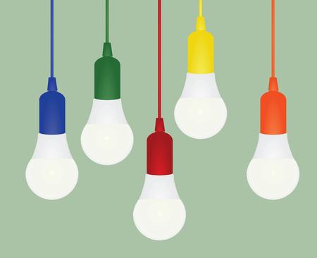 Led bulb vector illustration Ilustração