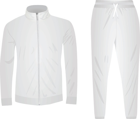 White tracksuit. vector illustration Vectores