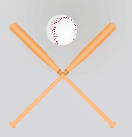 Baseball ball and bats. vector illustration design Illustration