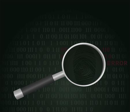 Finding hacker concept. vector illustration