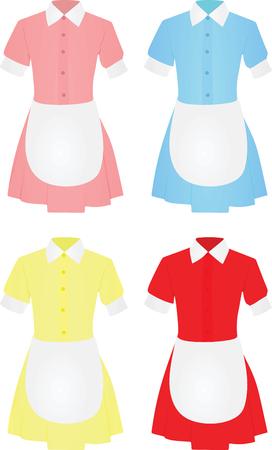 Maid uniform. vector illustration
