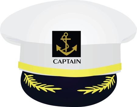 Captain hat. vector illustration