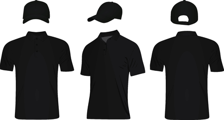 Baseball cap and polo t shirt vector 免版税图像 - 100135375
