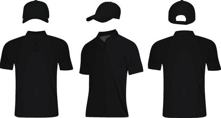 Vector de gorra de béisbol y camiseta de polo