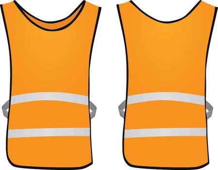 Orange safety vest. vector illustration