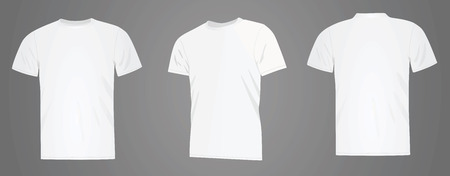 Men white t shirt, vector illustration