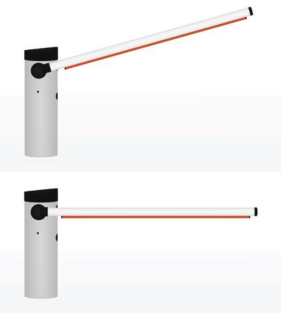 Barrera abierta y cerrada. ilustración vectorial