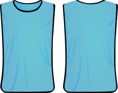 Blaue Sicherheitsweste. Vektorillustration Vektorgrafik