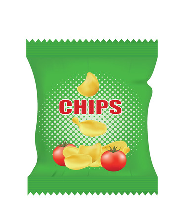 Potato chips bag. vector illustration