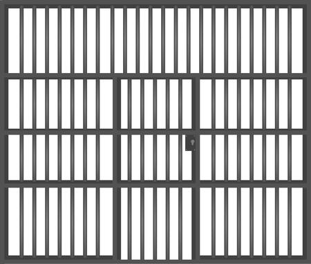 Prison bars. vector illustration Standard-Bild - 118698867