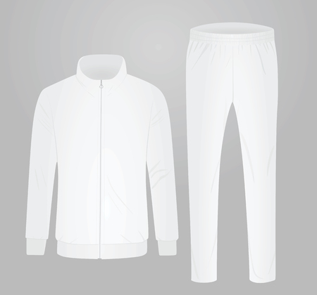 White tracksuit. vector illustration Ilustracja