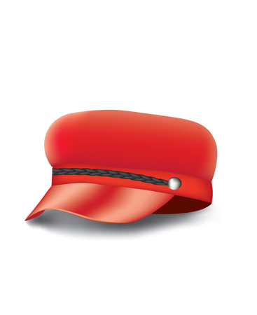 Red woman military cap