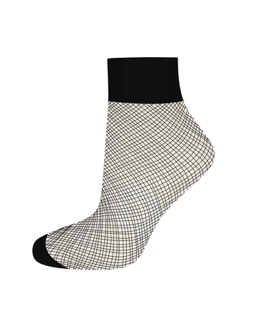Short fishnet socks. vector illustration