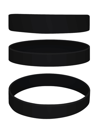 Black bracelet. vector illustration
