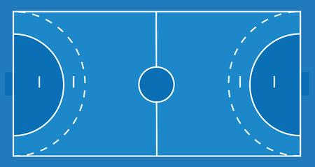 Handball field. vector illustration