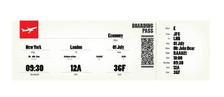 Flight ticket. vector illustration