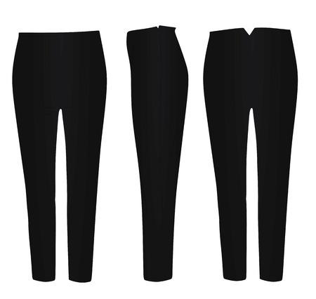 Black pants. vector illustration