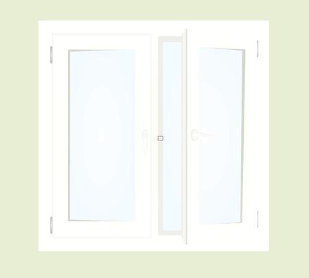 Open window. vector illustration Vettoriali
