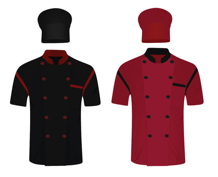 Chef uniform. shirt and hat. vector illustration