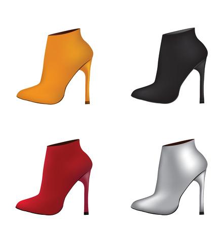 Ankle set boots. vector illustration Illustration