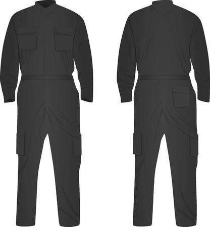 Grey repairman uniform. vector illustration Illustration