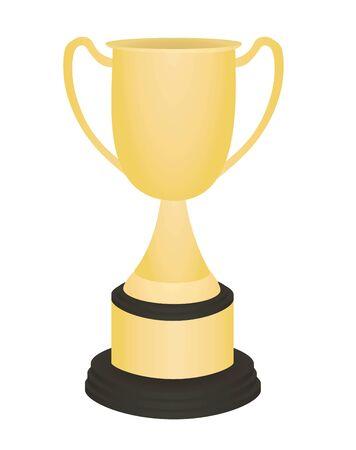 Golden trophy. vector illustration Çizim