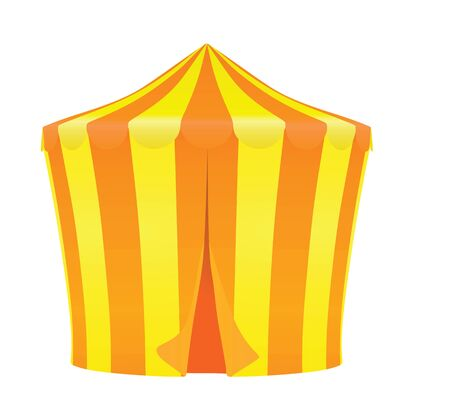 Yellow and orange circus tent. vector illustration