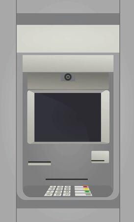 Máquina de depósito en efectivo. CAJERO AUTOMÁTICO. ilustración vectorial Ilustración de vector