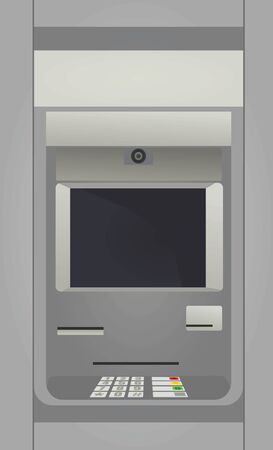 Macchina per il deposito di contanti. ATM. illustrazione vettoriale Vettoriali