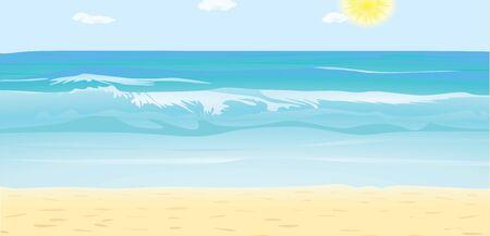Sea waves summer. vector illustration