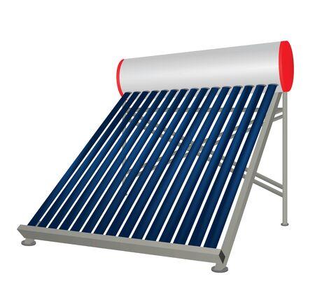 Verwarming op zonne-buizen. vector illustratie